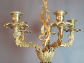 French Bronze Hanging Sconce