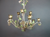 Italian Painted 9-Candle Chandelier