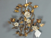 Pair of Italian Sconces with Roses