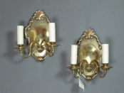Pair of English Brass Sconces