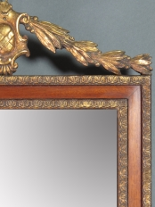 Small Wood and Gilt Mirror