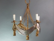 Continental Swag and Tassel Chandelier