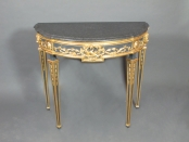 ebony and gilt console with marble top   –  SOLD