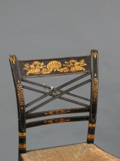 American Painted Thumb Back Chair