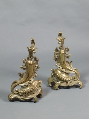 Pair of French Style Chenets