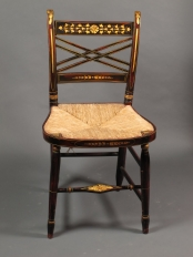 Set Of Six Thumb Back Chairs