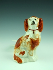Tiny Staffordshire Red and White Spaniel