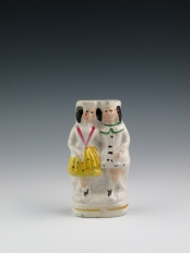 Miniature Staffordshire Figure of Man and Woman