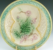 Unusual Plate with Fern Design
