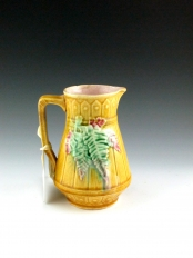 Yellow Pitcher with Picket Fence Design