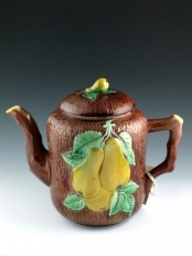 English Coffee Pot with Pear Design
